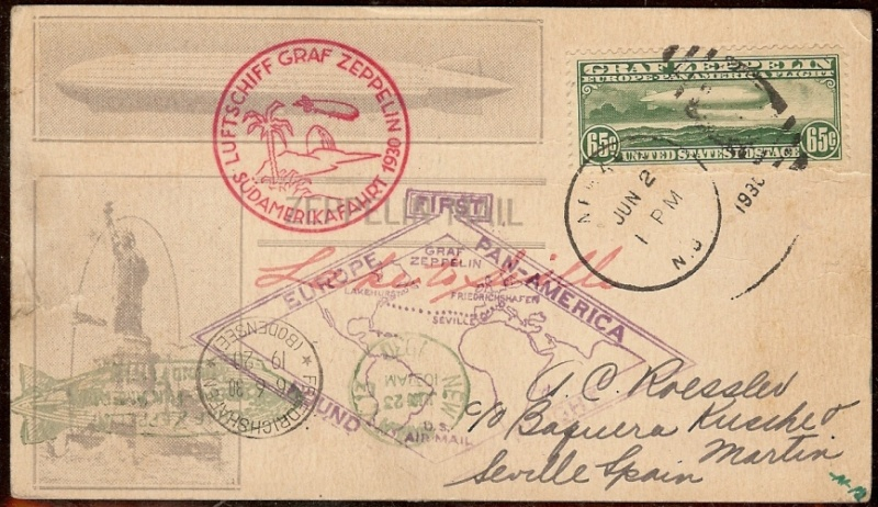 """Südamerikafahrt 1930 (Rundfahrt-) Post nach Friedrichshafen"""" - Seite 3 64_aii10"""