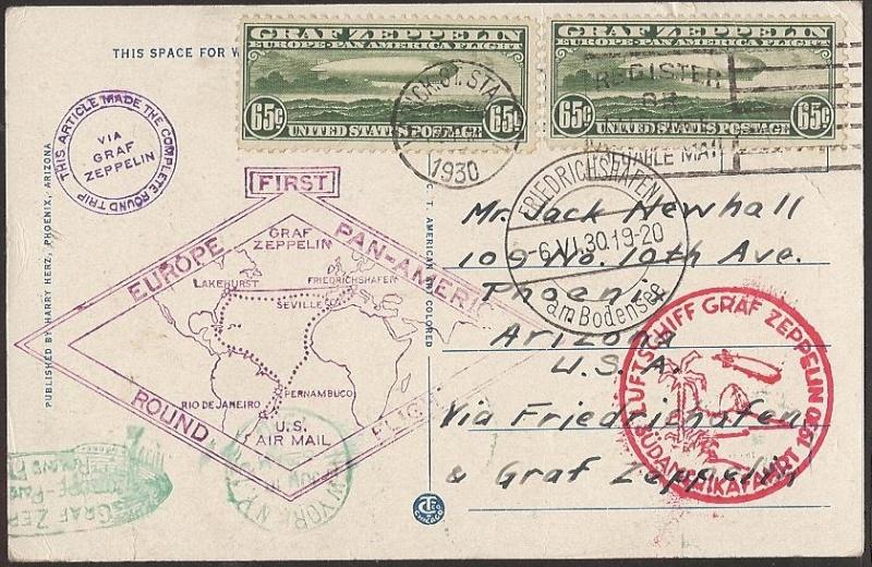 """Südamerikafahrt 1930 (Rundfahrt-) Post nach Friedrichshafen"""" - Seite 3 64_aii12"""