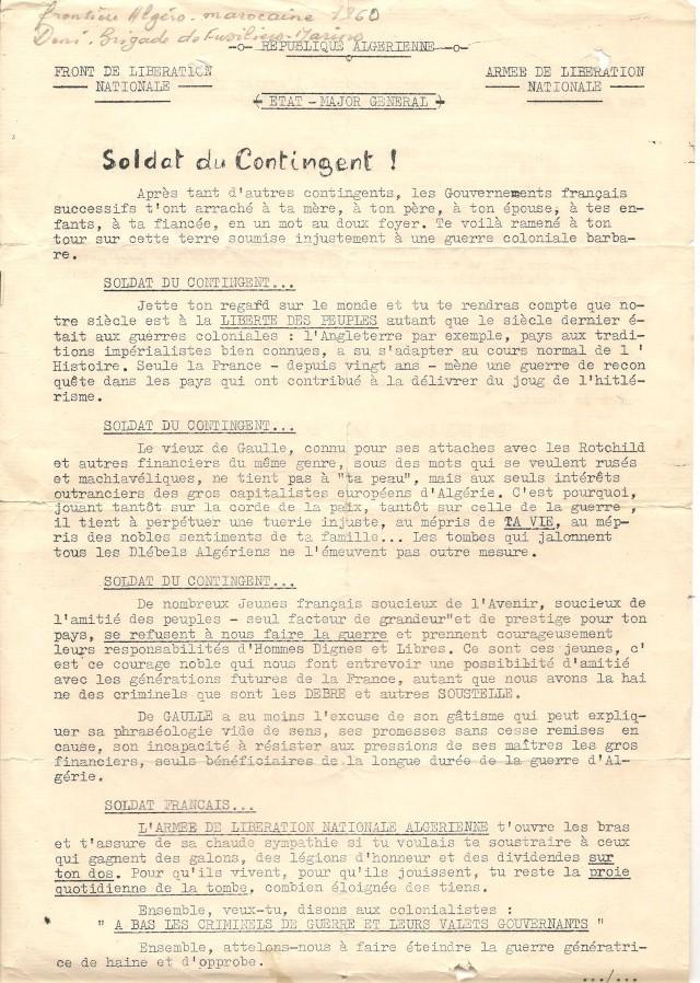 Tract FLN trouvé sur les lieux où Maurice Roche / Maître-chien a été mortellement blessé. 1_trac12