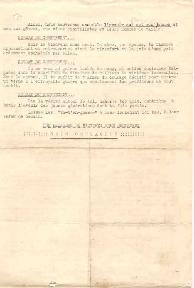 Tract FLN trouvé sur les lieux où Maurice Roche / Maître-chien a été mortellement blessé. 2_trac11