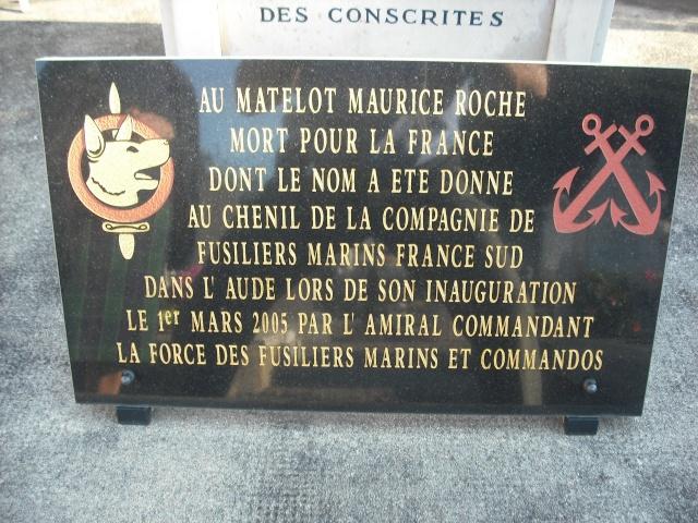 Photos de l'Hommage à Maurice ROCHE fusilier-marin /maître-chien,tombé la nuit du 3 septembre 1960. 3_roch10