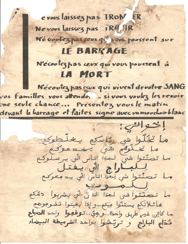 Différents tracts trouvé derrière le barrage, en Zone Interdite / 3ème Bat. 4_b_tr10