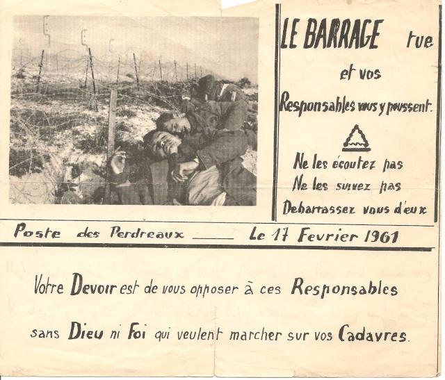 Différents tracts trouvé derrière le barrage, en Zone Interdite / 3ème Bat. 7a_tra10