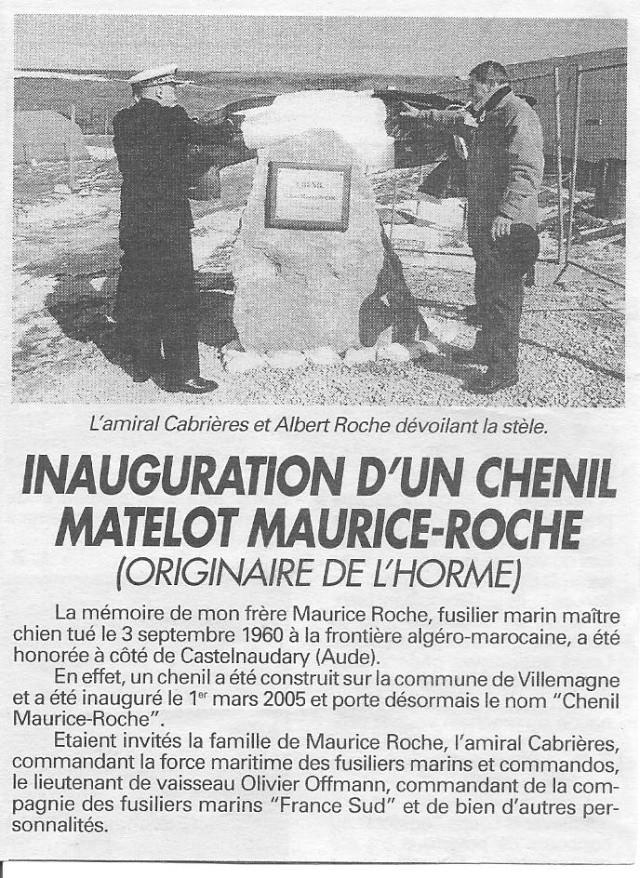 Photos de l'Hommage à Maurice ROCHE fusilier-marin /maître-chien,tombé la nuit du 3 septembre 1960. Xx_1_m10