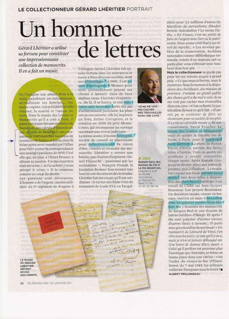 Boules de Moulins et autres documents. Garard10