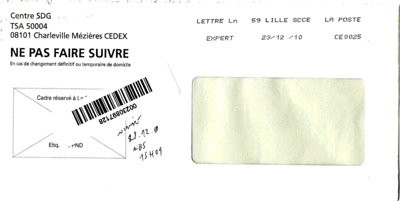 lettre expert Pli récent à décrypter lettre expert