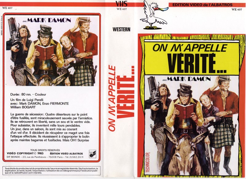 GUIDE DES SPAGHETTI WESTERNS SEULEMENT DISPONIBLES EN VHS.  On20m210