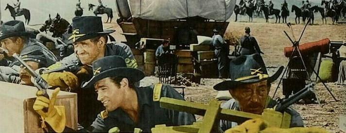 La poursuite dura sept jours- The Command- 1954- David Butler. Sansti10