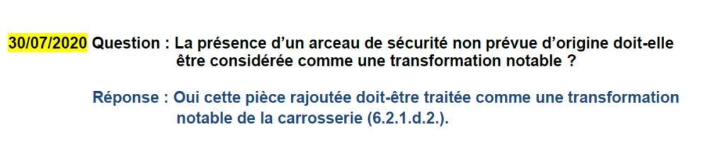 Controle technique. - Page 2 Arceau10