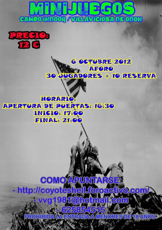 Minijuegos, partida abierta (De Tarde) 6.10.12 campo Indoor, Villaviciosa de Odon Miniju10