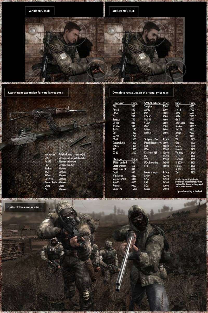 STALKER: Call of Pripyat MISERY (eng) Binov10