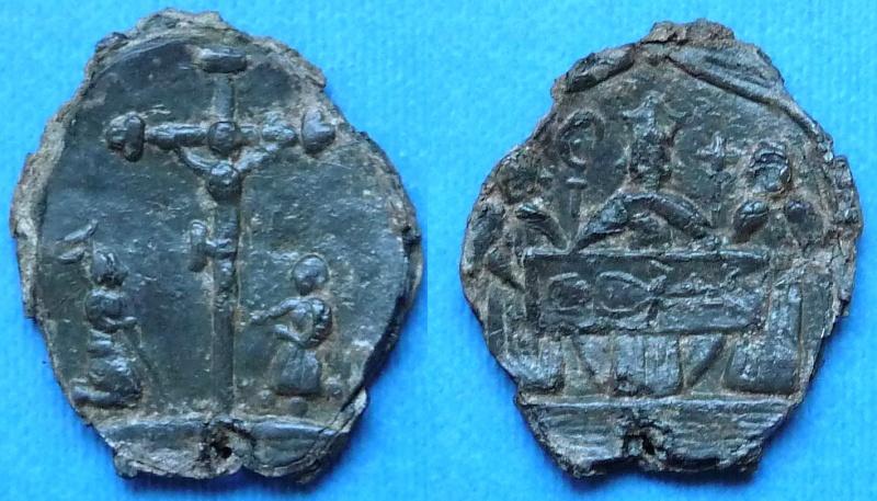 Médaille Saint Suaire de Besançon - XVIIème nouvelle photo Psaint10