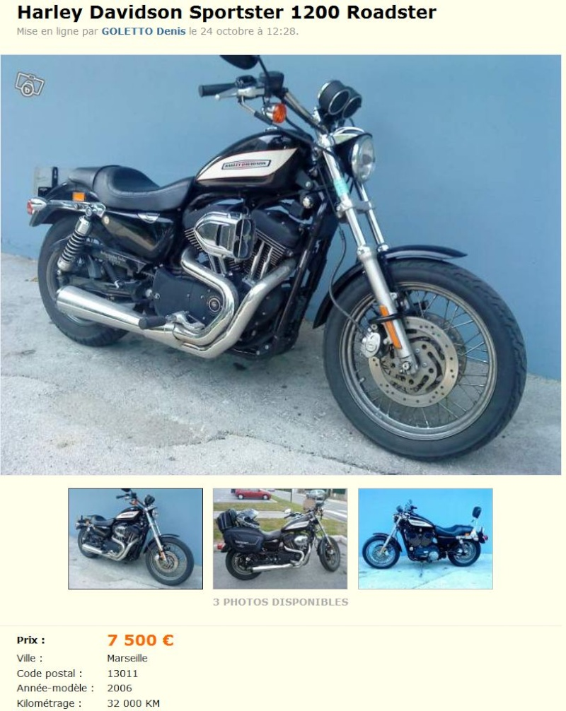 Harley Davidson Sportster 1200 Roadster (VENDUE) Lebonc10