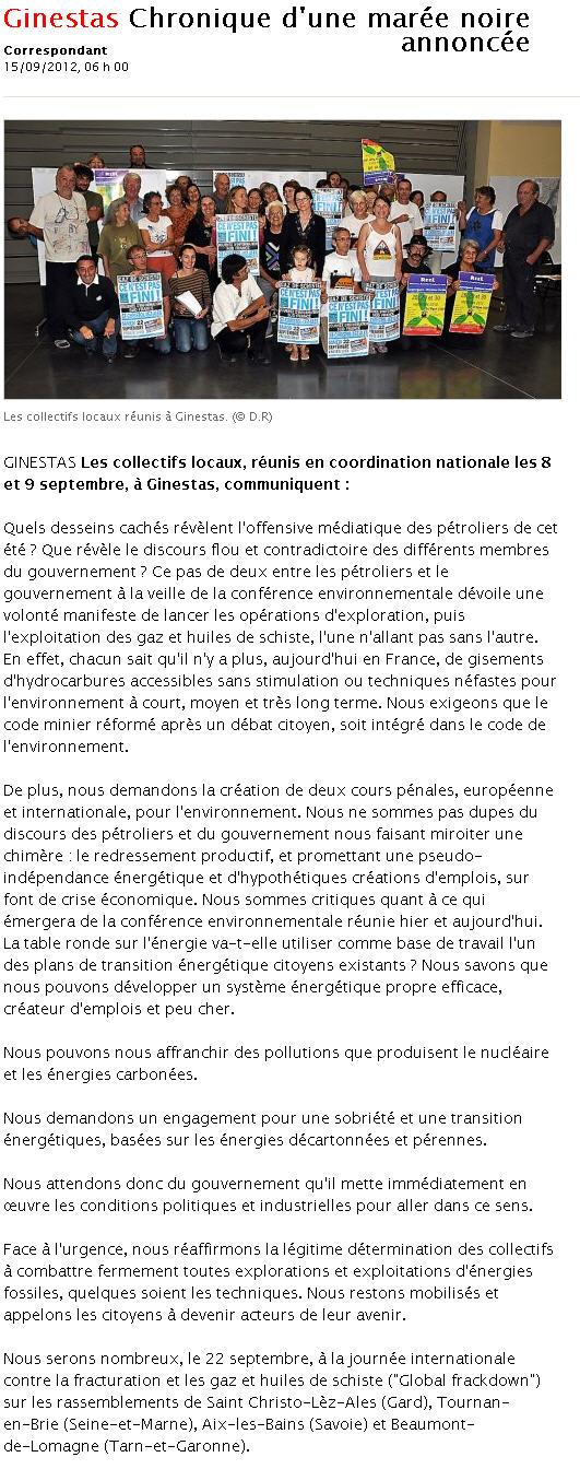 [CN] Ginestas : annonce de la journée internationale Ml150910