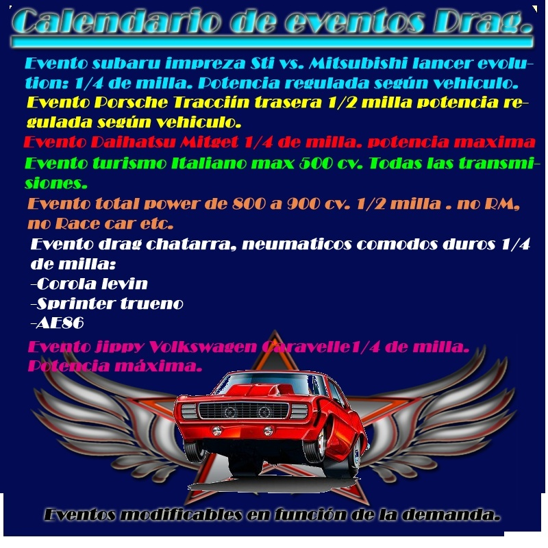 Calendario de Sesiones de Drag. Evento12