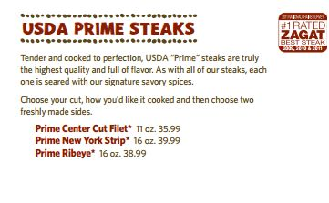 Outback Steakhouse Prime10