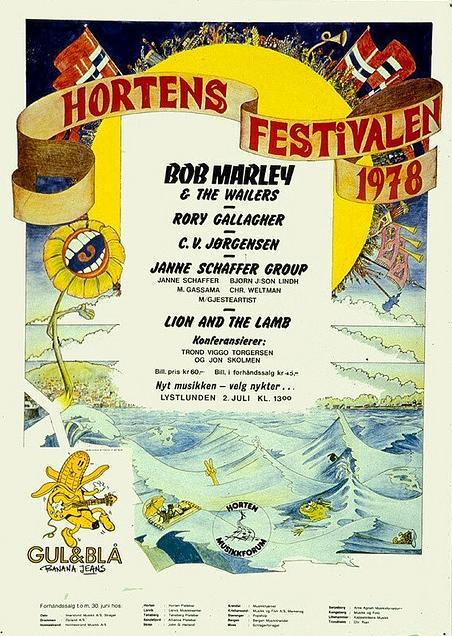 Photos de Sigmund Ruud - Hortensfestival -Horten (Norvège)- 2 juillet 1978 Affich10