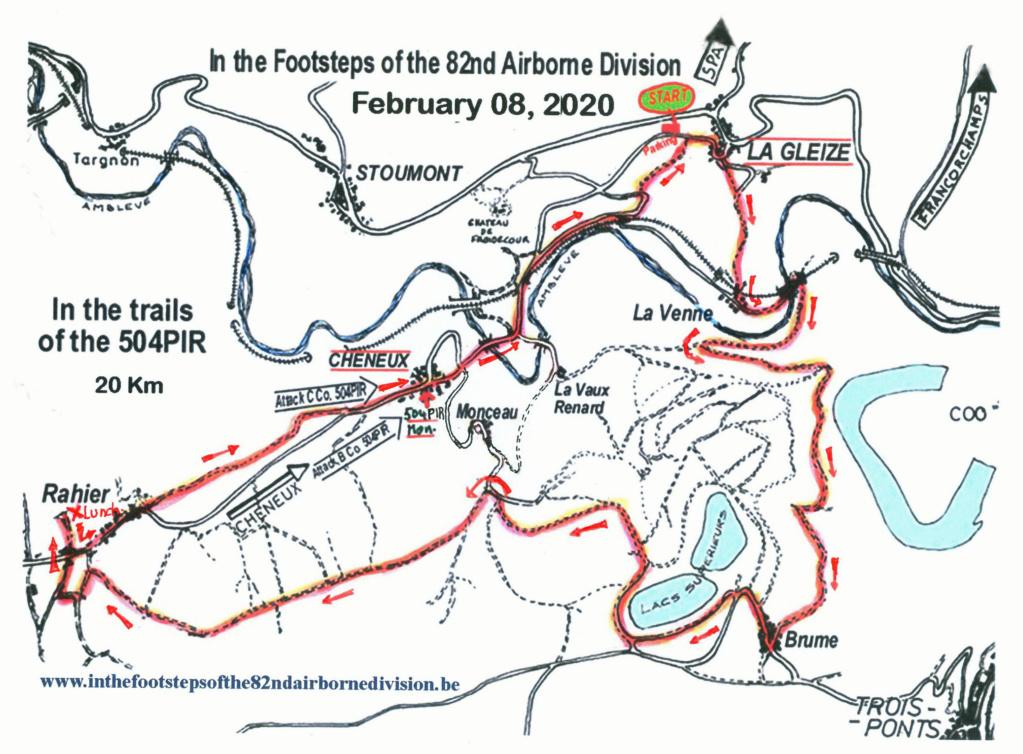 Marche 82nd Airborne 2020 - 8 février Map_8210