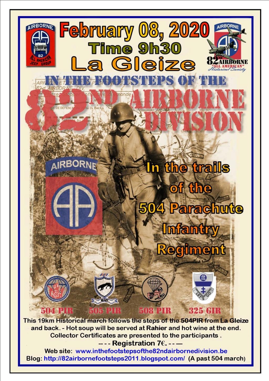 Marche 82nd Airborne 2020 - 8 février Poster10