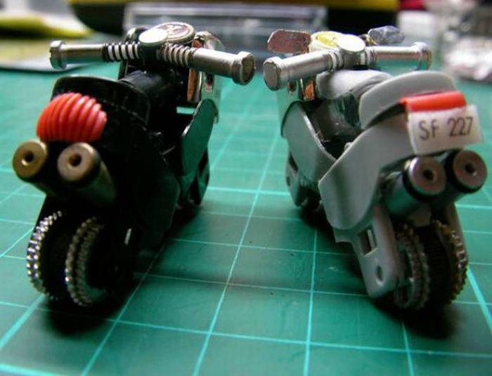 Hacer una moto con dos encendedores. ( Tambien Video paso a paso.) Moto1010