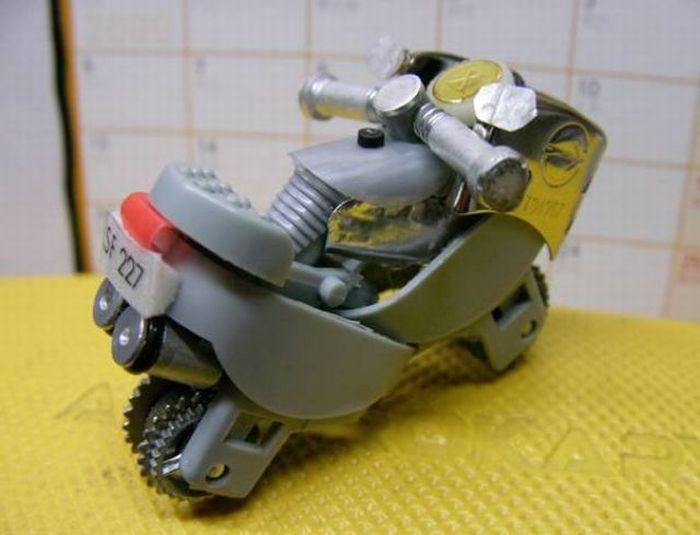 Hacer una moto con dos encendedores. ( Tambien Video paso a paso.) Moto810