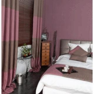 auriez vous des photos de déco de pièce avec la couleur bois de rose Rideau10