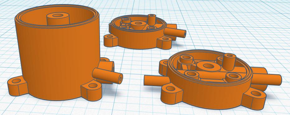 3D printed PeeWee .020 tank backplate Peewee10