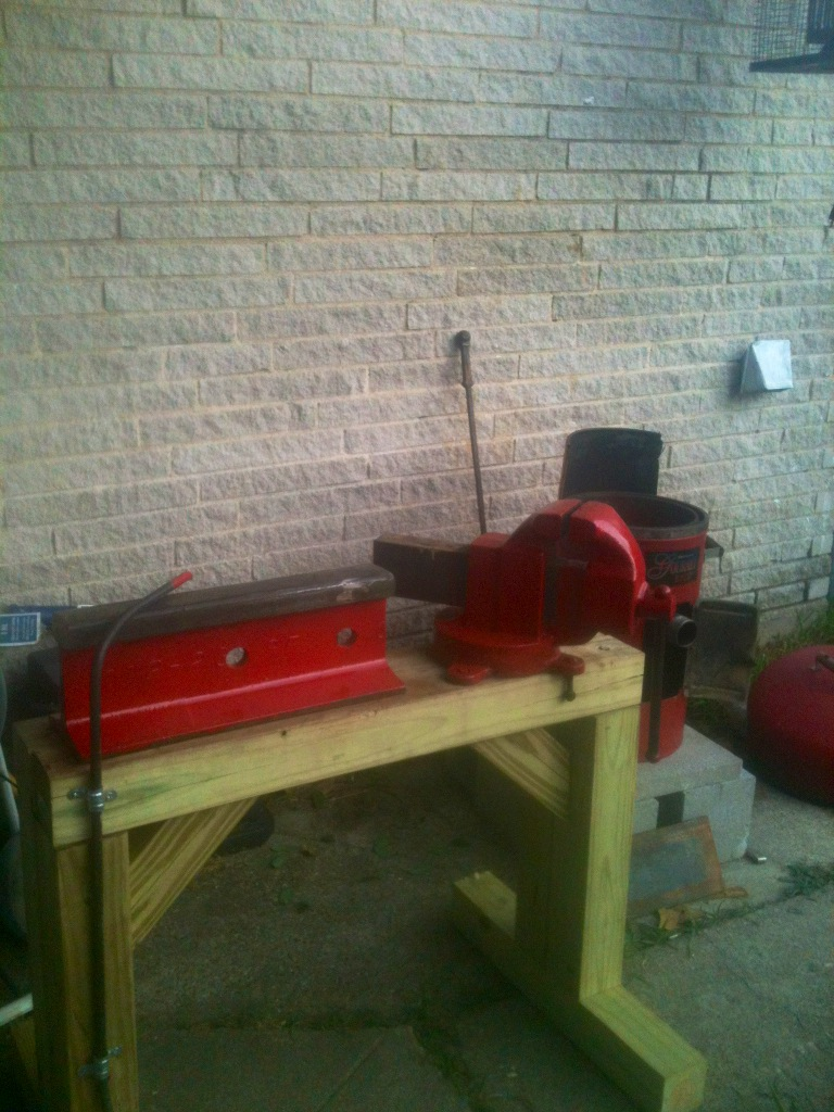 Home made forge and railroad track anvil Photo_10