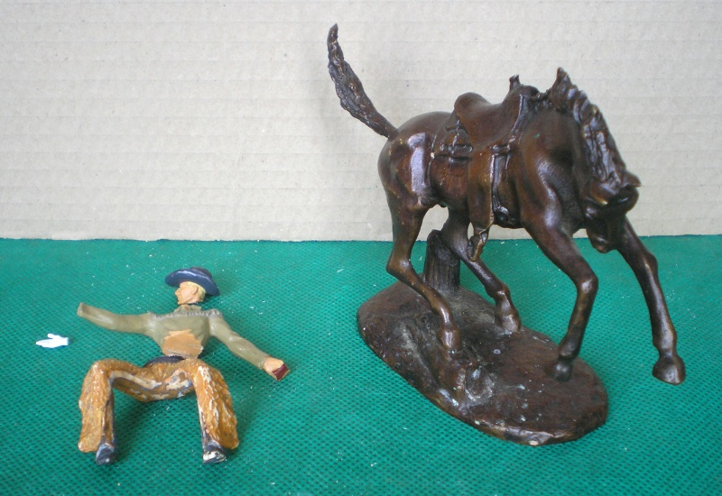 Cowboy zu Pferd mit Lasso - Umbau in der Figurengröße 7 cm 139a2_10