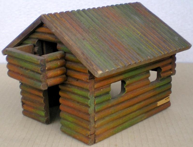 Wildwest-Gebäude aus Holz für Figuren von 54 bis 70 mm Elasto10