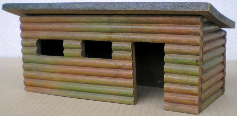 Wildwest-Gebäude aus Holz für Figuren von 54 bis 70 mm Elasto15