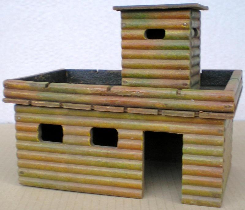 Wildwest-Gebäude aus Holz für Figuren von 54 bis 70 mm Elasto16