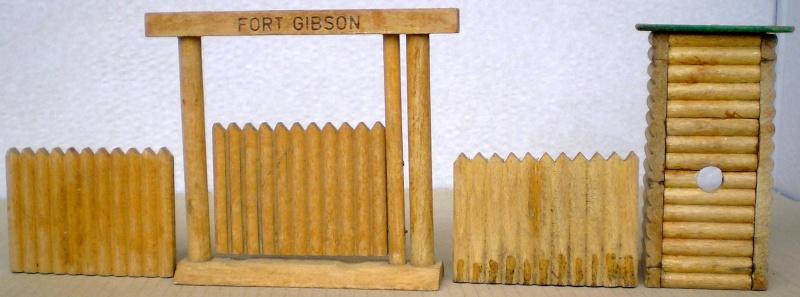 Wildwest-Gebäude aus Holz für Figuren von 54 bis 70 mm Elasto17