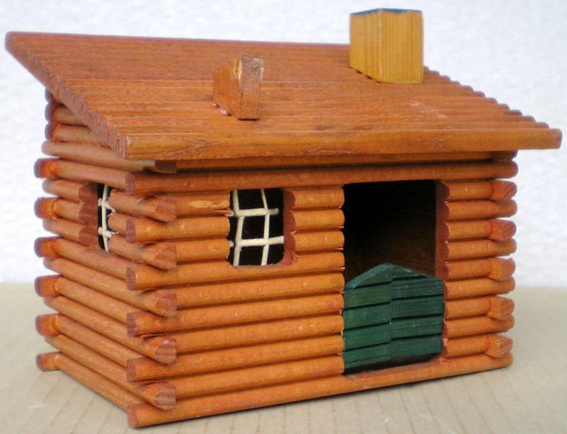 Wildwest-Gebäude aus Holz für Figuren von 54 bis 70 mm Shg_kl10