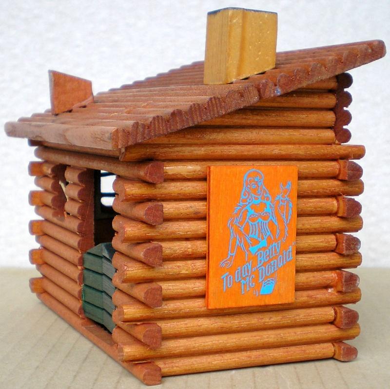 Wildwest-Gebäude aus Holz für Figuren von 54 bis 70 mm Shg_kl11