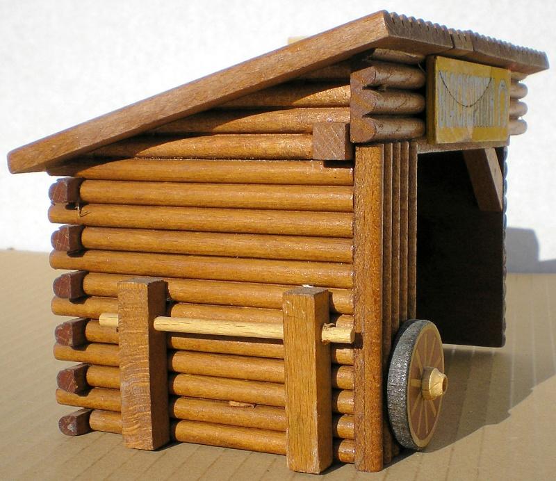 Wildwest-Gebäude aus Holz für Figuren von 54 bis 70 mm Shg_sc11