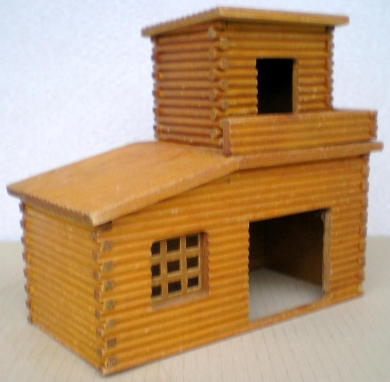 Wildwest-Gebäude aus Holz für Figuren von 54 bis 70 mm Shg_sl12