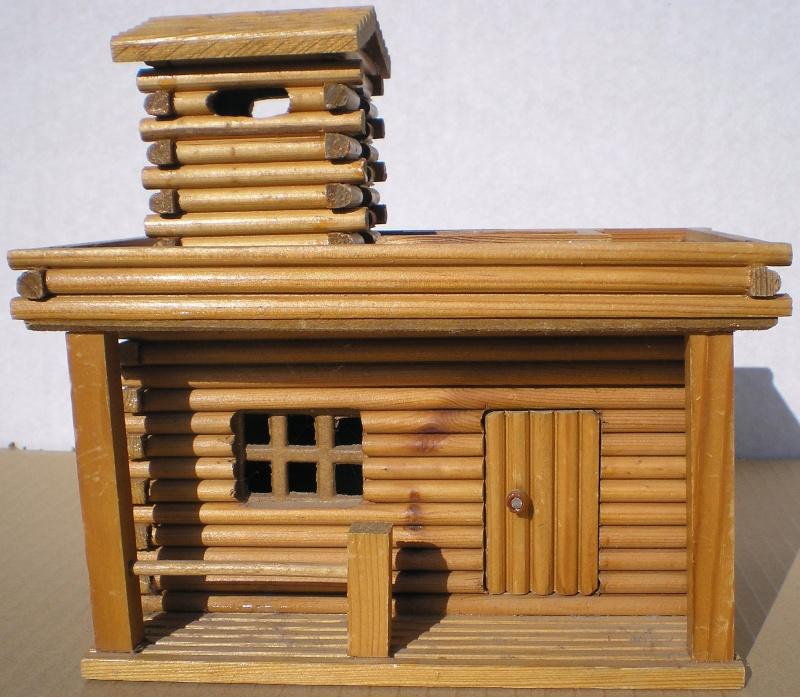 Wildwest-Gebäude aus Holz für Figuren von 54 bis 70 mm Shg_sl15