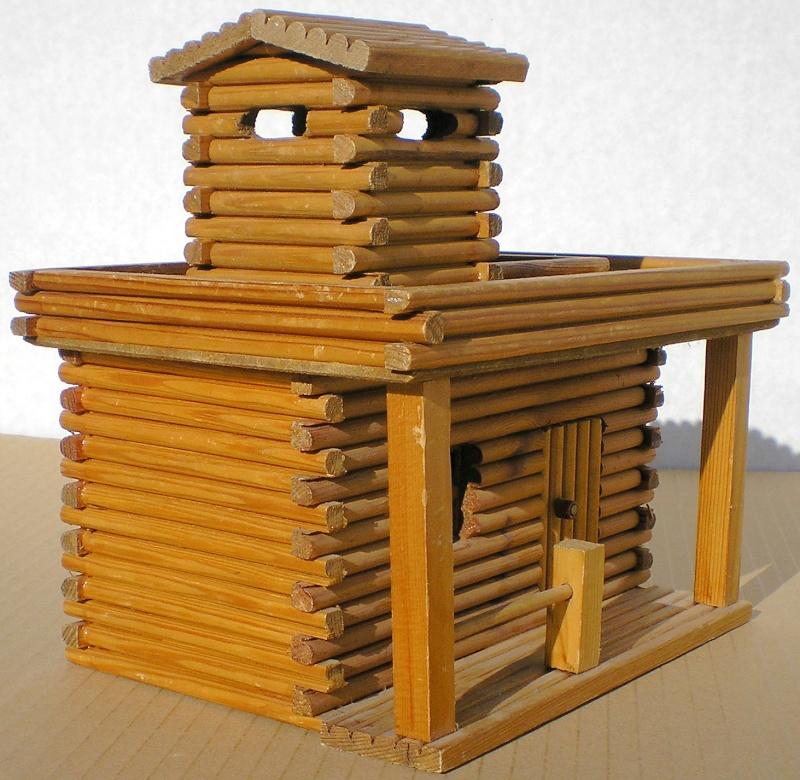 Wildwest-Gebäude aus Holz für Figuren von 54 bis 70 mm Shg_sl16