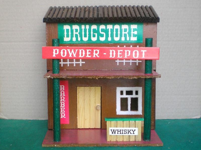 Wildwest-Gebäude aus Holz für Figuren von 54 bis 70 mm Vero_a15
