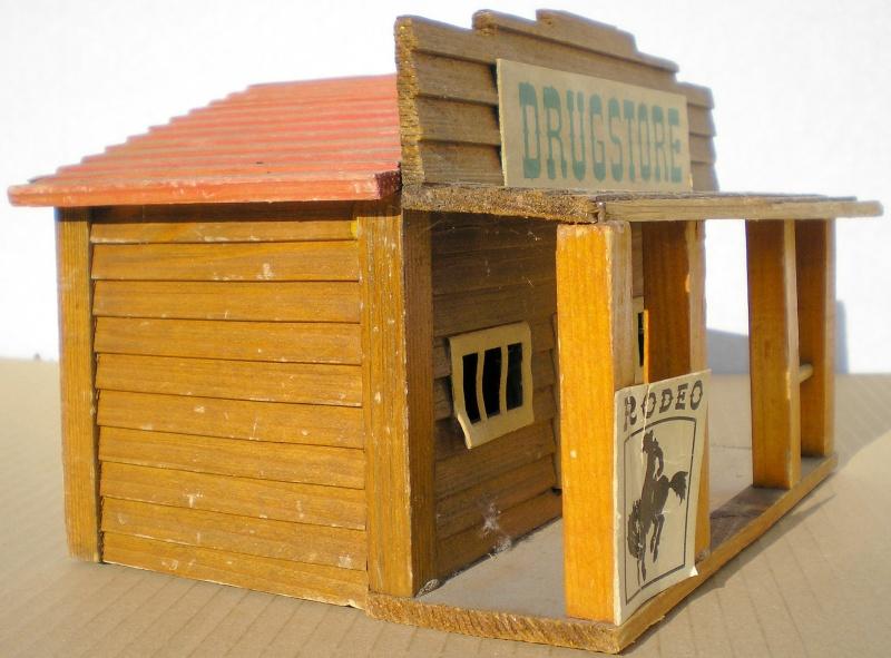 Wildwest-Gebäude aus Holz für Figuren von 54 bis 70 mm Vero_s15