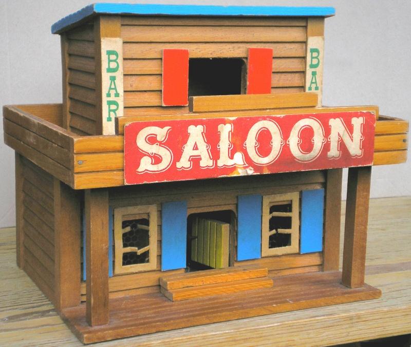 Wildwest-Gebäude aus Holz für Figuren von 54 bis 70 mm Vero_s16