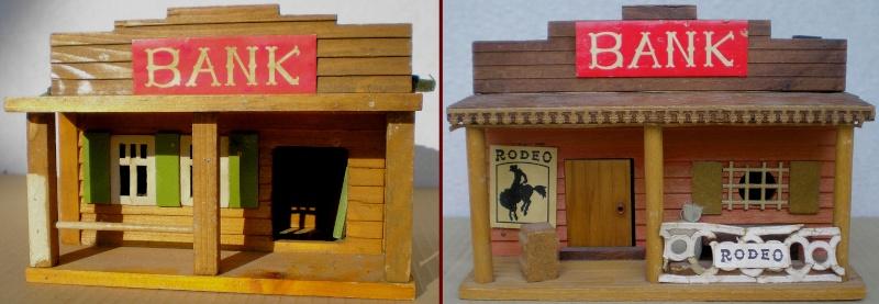 Wildwest-Gebäude aus Holz für Figuren von 54 bis 70 mm Vero_s18