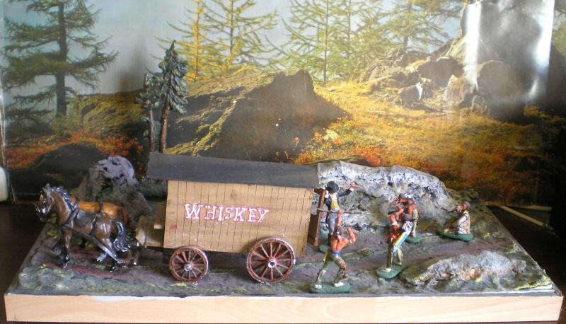 Western-Dioramen für 54 - 90 mm Figuren Whiske11