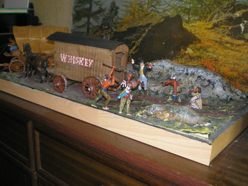 Western-Dioramen für 54 - 90 mm Figuren Whiske14