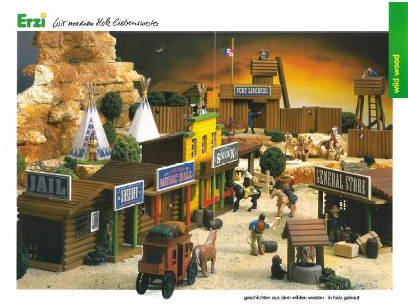 Wildwest-Gebäude aus Holz für Figuren von 54 bis 70 mm Wild_w10