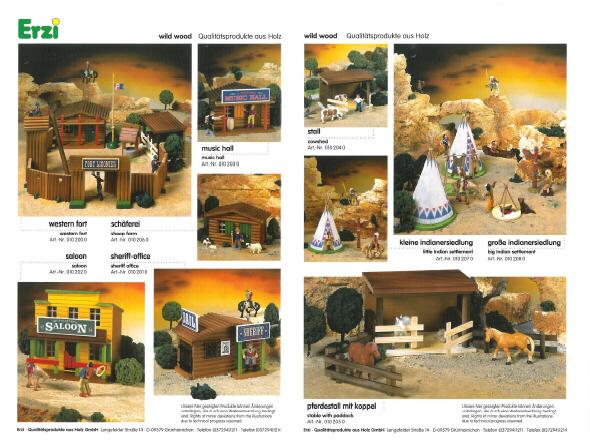 Wildwest-Gebäude aus Holz für Figuren von 54 bis 70 mm Wild_w11