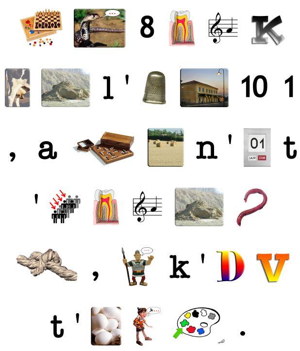 Exemple de rébus Enigme10