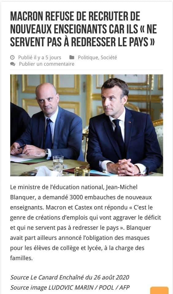 Gestion de la crise du Coronavirus dans l'Education Nationale - Page 21 Macron11
