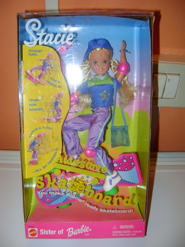 barbie - BARBIE STACIE on SKATEBOARD - FAR OUT - POSE ME PET -  COOL SKATING - GENERATION GIRL  Stacie10